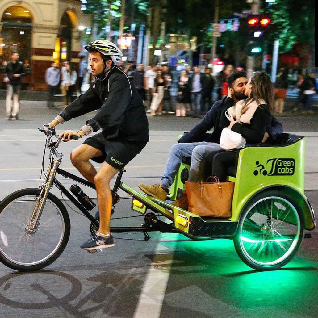Melbourne Pedicabs - Green Cabs - Eco Friendly Public